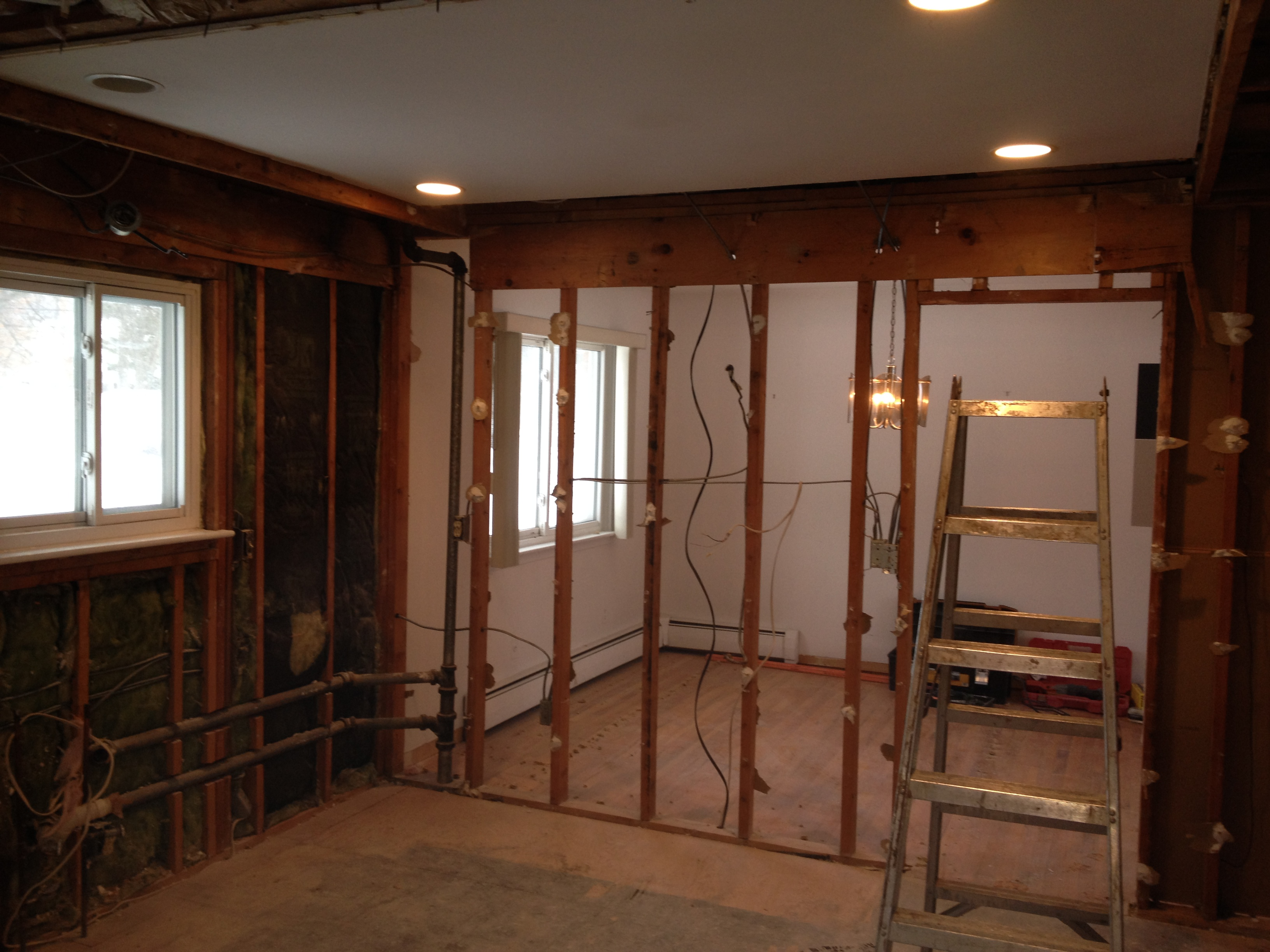 Opening up the New Kitchen area