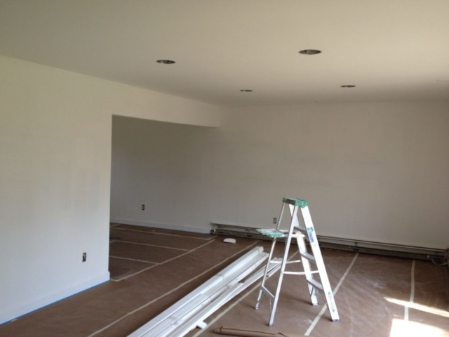 New recessed lighting throughout